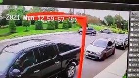 Wild ride: Car strikes berm, flies through air, lands next to people eating