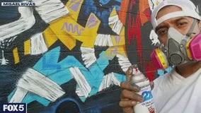 Graffiti artist known as Totem decorates NYC with murals