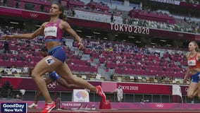 Sydney McLaughlin sets world record and wins gold in Olympic 400-meter hurdles