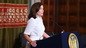 Kathy Hochul takes the helm in New York, vows swift action