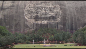 New Stone Mountain logo excludes giant Confederate carving