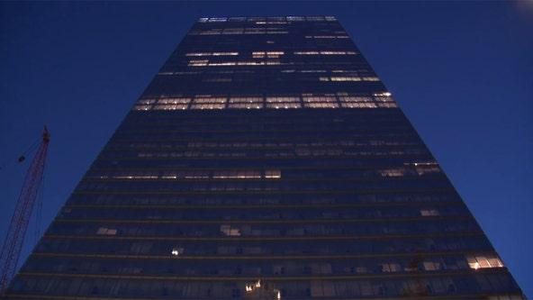 Drone hits skyscraper at World Trade Center