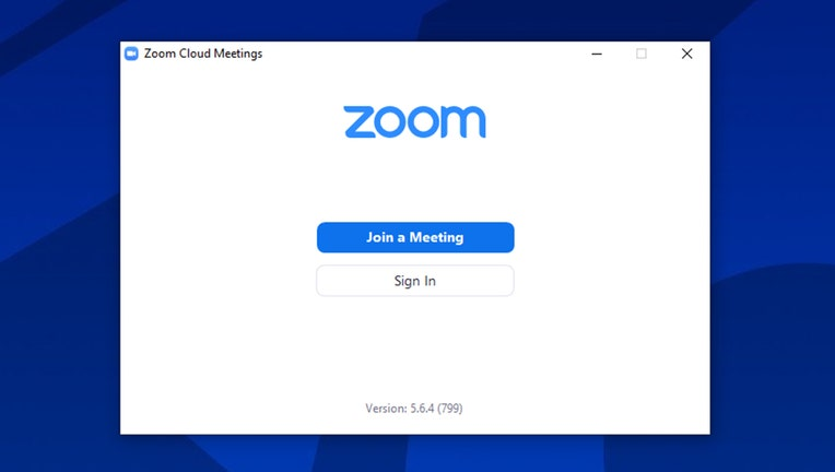 A screenshot of the sign-in window of the Zoom videoconferencing platform. (FOX 5 NY Image)