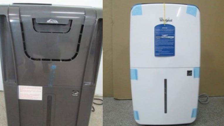 The CPSC released images of some of the affected dehumidifiers.