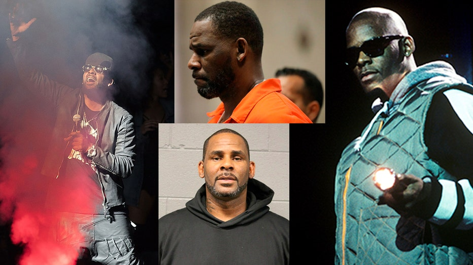 R. Kelly in a series of photos