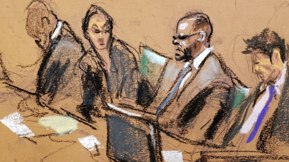A prosecutor said R&B singer R. Kelly would often record sex acts with minors as he controlled a racketeering enterprise of individuals.