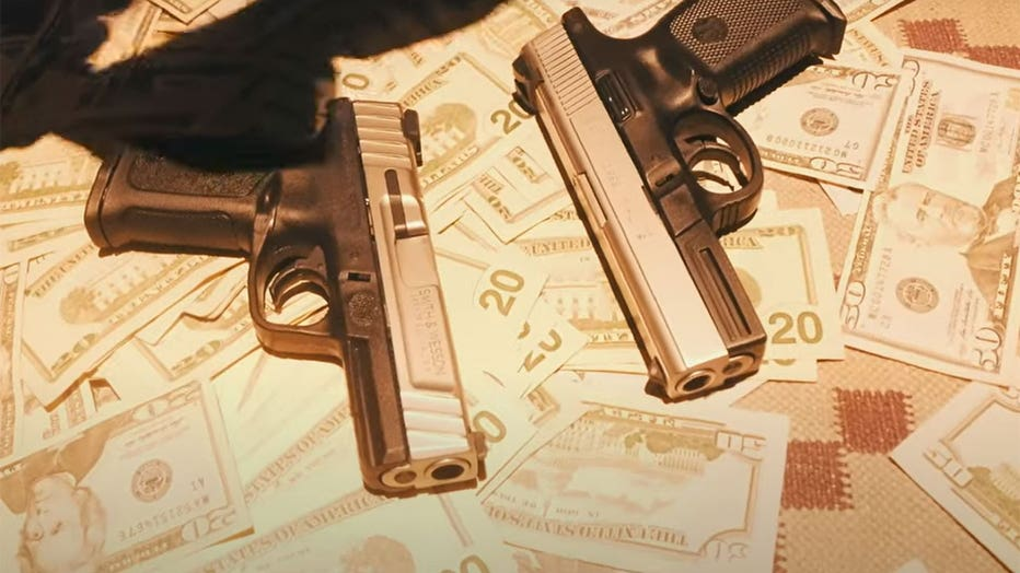 A still frame from the Guns in the Booth music video federal prosecutors say featured illegal guns.