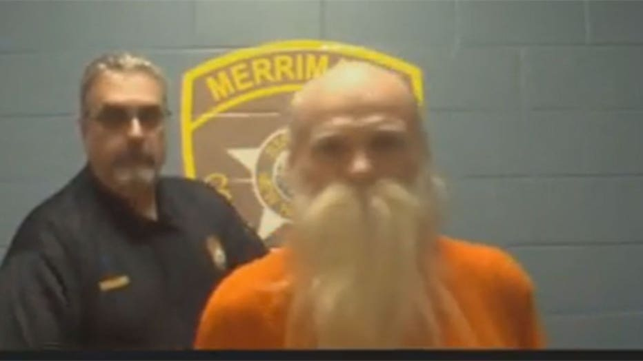 81-year-old David Lidstone, known as 'River Dave' appears in court via video conference.