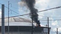 Caesars Superdome fire: Blaze on New Orleans stadium roof extinguished