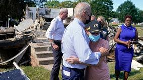 President Biden surveys storm damage in New Jersey and Queens