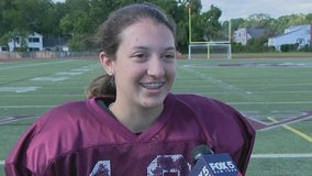Sofia LaSpina is first female football player to score touchdown on Long Island