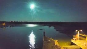 Video captures bright meteor streaking across night sky in France