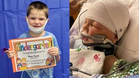 Boy struck by projectile on playground in medically-induced coma