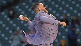 WATCH:  Conor McGregor tries to throw a baseball