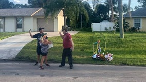 Fight between neighbor, protester breaks out near Brian Laundrie's family's home