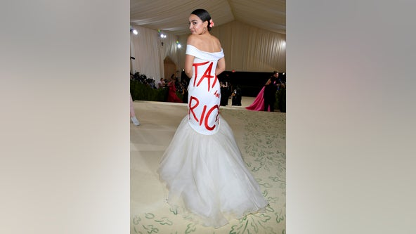 Report: Designer of AOC's 'Tax the Rich' dress owes taxes in multiple states