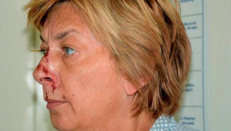 This undated photo provided by the Croatian Police shows the woman who was found on the Adriatic island of Krk on Sept. 12, 2021.(Croatian Police via AP)