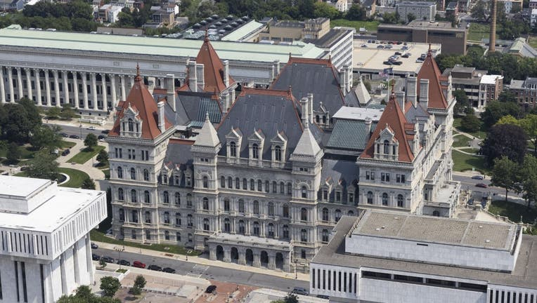 The New York State Capitol Building in Albany, New York, U.S., on Wednesday, Aug. 11, 2021.