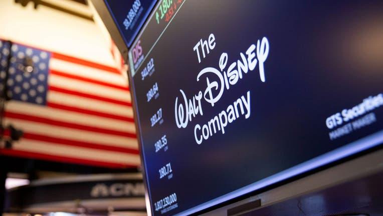 Walt Disney Co. signage on the floor of the New York Stock Exchange