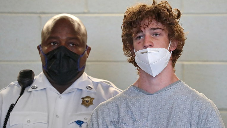 Jack Callahan, 19, is arraigned in Plymouth District Court in Plymouth, MA on June 29, 2021. (Photo by David L. Ryan/The Boston Globe via Getty Images)