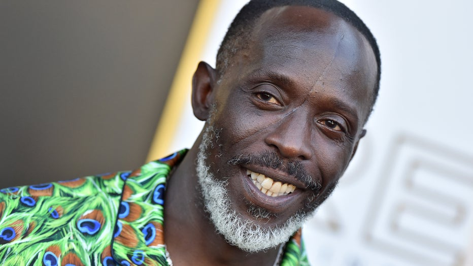 """Michael K. Williams attends the Los Angeles Premiere of MGM's """"Respect"""" at Regency Village Theatre on August 08, 2021 in Los Angeles, California. (Photo by Axelle/Bauer-Griffin/FilmMagic)"""