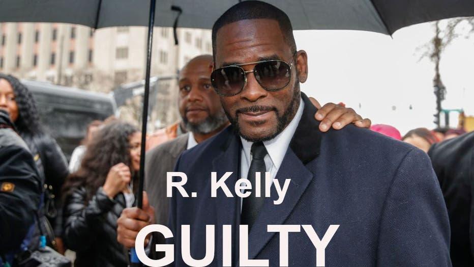 A jury in downtown Brooklyn found R&B star R. Kelly guilty in his federal sex trafficking trial.