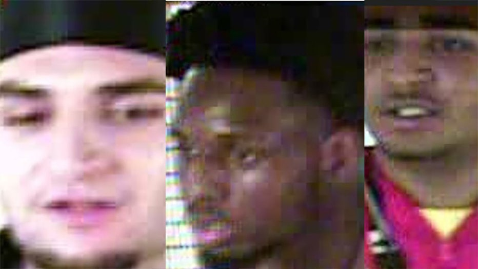 The NYPD was looking for three individuals involved in a string of robberies.