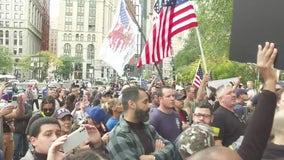 New York City workers hold anti-vaccine mandate rally