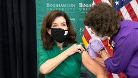 Hochul and de Blasio get COVID vaccine boosters