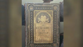 Almost 80 years later, NYC Holocaust survivor reunited with family's lost bible