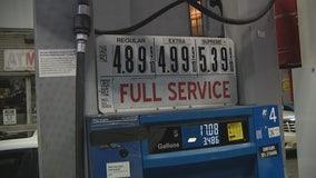 Gas prices hit $5 in Manhattan