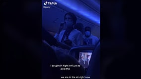 Airplane passenger uses microphone to rant about pandemic midflight