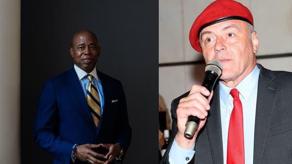 Eric Adams and Curtis Sliwa spar in their first NYC mayoral debate