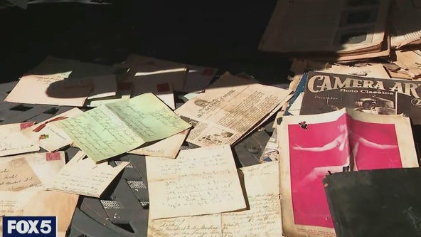 Homeowner says decades-old hidden mementos fell from ceiling