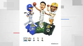 Triple bobblehead puzzle set featuring Rodgers, Yelich, Giannis caps off MVP Birthday Week