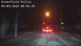 Video: Driver in custody after ramming Greenfield squads, parked vehicle while fleeing officers