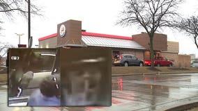 Cameras captured Uber Eats driver kicking in drive-thru at West Allis Burger King