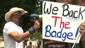 'Back the Badge' rally in Kenosha, headlined by David Clarke, met with opposition; 1 detained