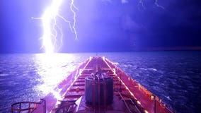 Whoa! Epic photo of lightning bolt on Lake Michigan captured by mate on freighter