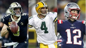 Brees, Brady closing in on catching Favre on TD passing list