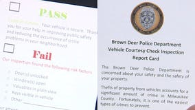 Brown Deer police hand out report cards listing vehicle vulnerabilities in effort to prevent crime