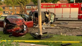 Several people taken to hospital after 3-vehicle crash near 58th and Capitol