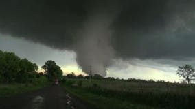 Two killed by strong tornadoes that swept across portions of southern Oklahoma