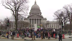 Police: Roughly 1,500 assemble in protest of 'Safer at Home' order at state Capitol