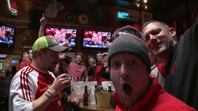"""""""On the right track!"""" Bucky fans celebrate big in Milwaukee following victory"""