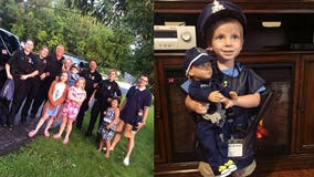 Boy gets big surprise from New Berlin police on his 3rd birthday