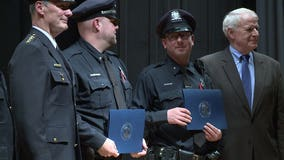 """""""That's what you do:"""" Officers who saved 9 from house fire among the honored at MPD Merit Awards"""