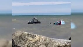 Kite surfer rescued along Milwaukee's lakefront