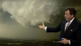 Tornado forms on live TV during Oklahoma station's storm coverage