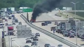 Vehicle fire closes all lanes of I-41/94 SB near Ryan Road